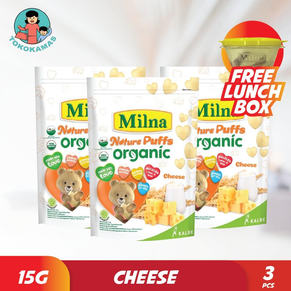 Milna Nature Puffs Organic Rasa Keju