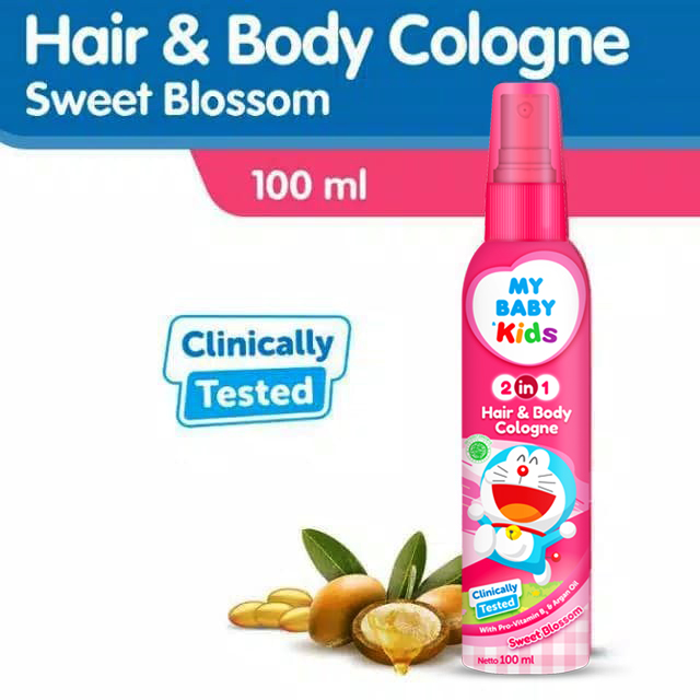 MY BABY KIDS 2IN1 COLOGNE 100ML-PINK