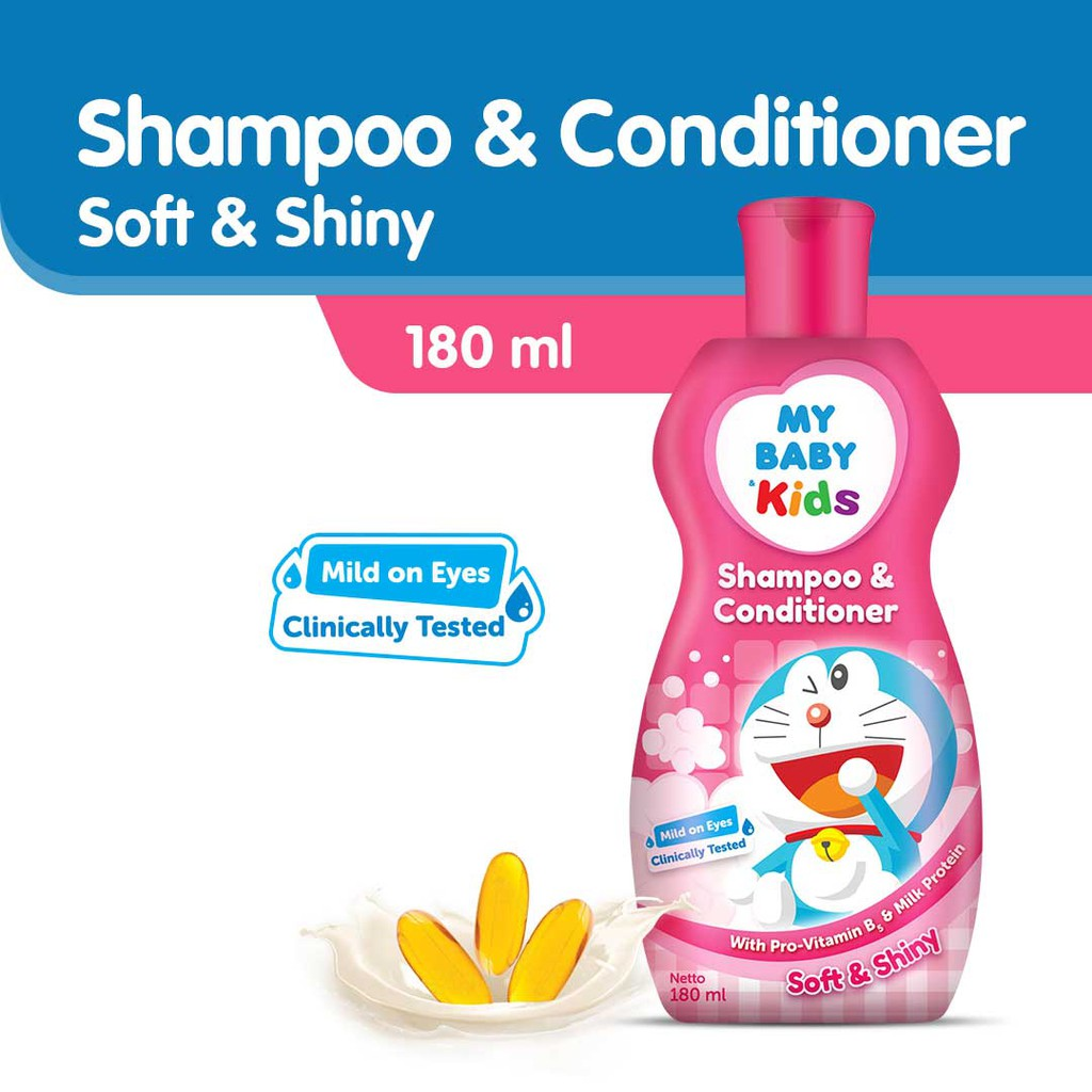 MY BABY KIDS SHAMPOO&COND 180ML-PINK
